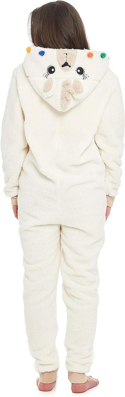 Slumber Hut/® Lama Animal Pantoufles pour Femmes et Filles Famille Correspondant Adultes et Enfants Tailles Luxe Chaud Polaire