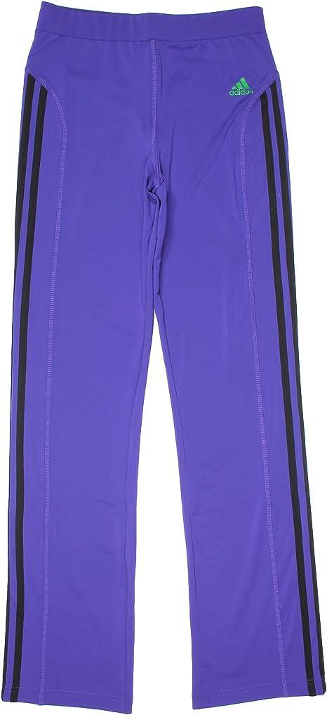 Adidas Girls 7-16 ClimaLite Yoga Pants Small 7/8 Purple