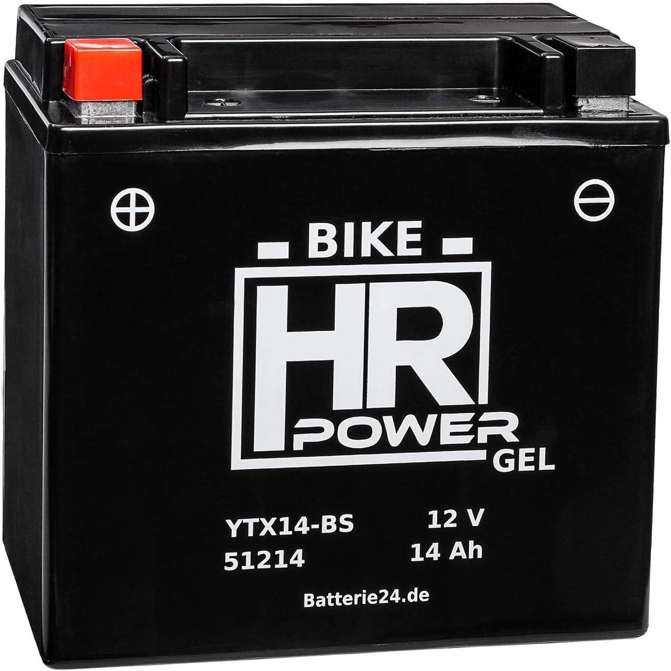 Gel Motorrad Batterie Starterbatterie Ytx14 Bs 51214 12v 14ah Wartungsfrei Auto