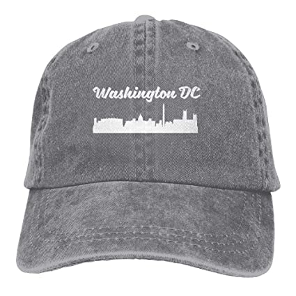 hanbaozhou Gorras béisbol Washington DC Denim Hat Adjustable Womens Curved Baseball Caps