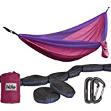 Amazon Price History for:Hammock - Camping Double Hammock- Portable Parachute Nylon Hammock With Tree Straps & Alloy Carabiners For Backpacking Garden, Backyard,Hiking &Traveling