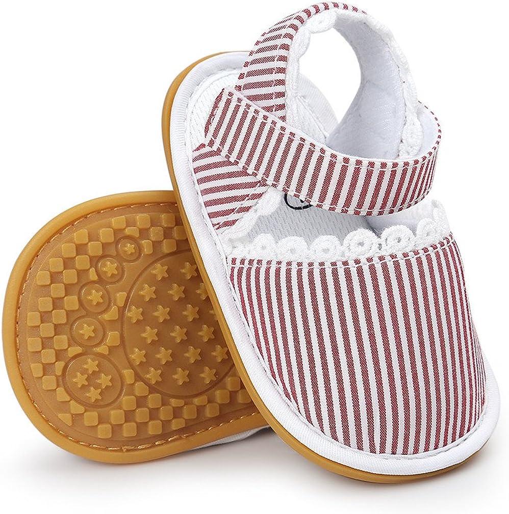Baby Boys Girls Sandals Rubber Sole Outdoor First Walker Toddler Girls Boys Summer Shoes