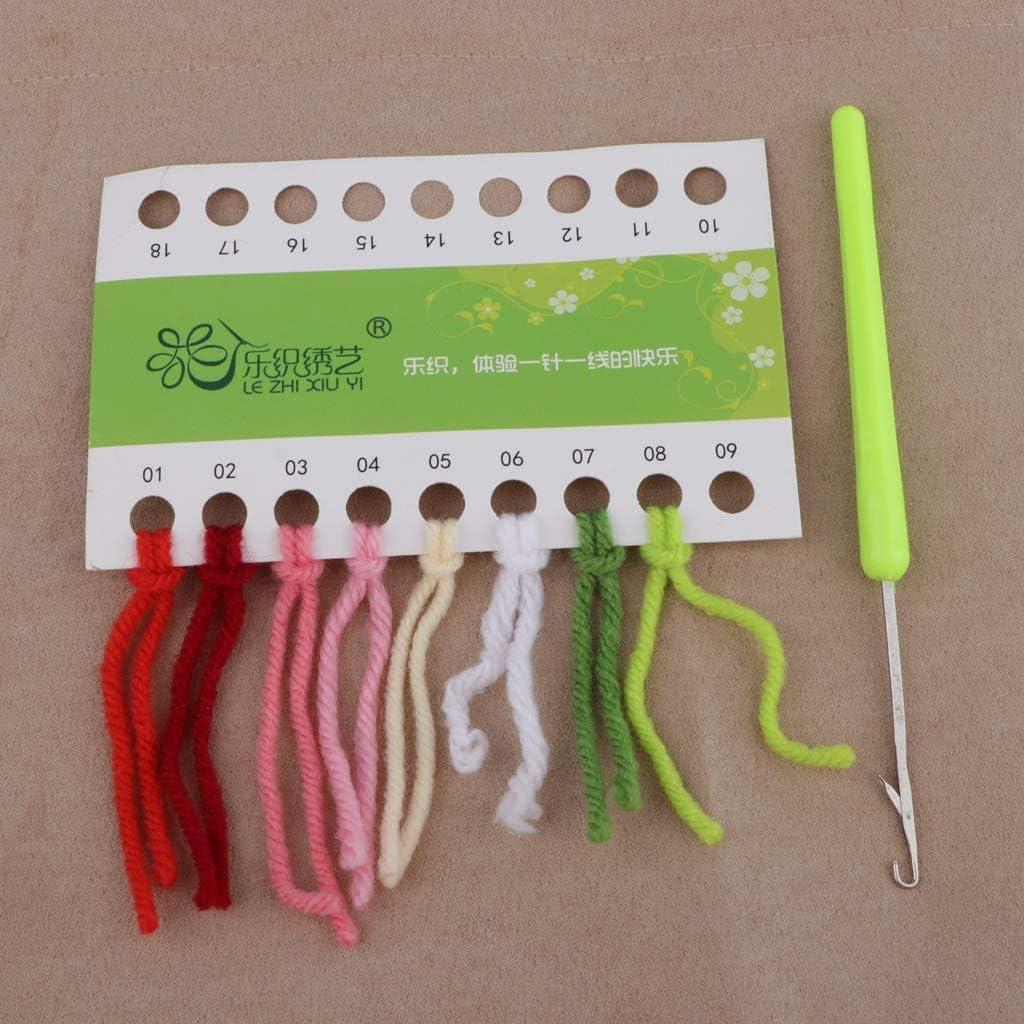 Teppichfertigungs-Set Kissen Latch Hook Kit Kn/üpfteppich-Kits Latch Hook Kit Zum Selber Kn/üpfen Latch Hook Rug Kits,High Heels,50cm//20inch