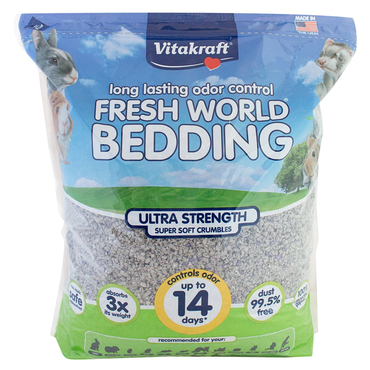 Vitakraft Fresh World Ultra Strength Crumble Bedding for Small Animals by Vitakraft