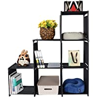SortWise ® 6 Cube Storage Shelves DIY Closet Organizer Cabinet Rack Open Bookshelf, Black
