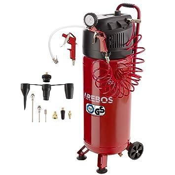 Arebos - Compresor de aire a presión (50 L, 1500 W, sin aceite