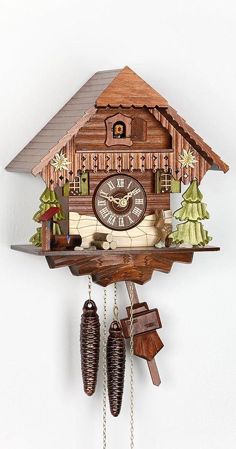 Alemán Reloj de cuco - estilo Chalet - mecanismo con cuerda para 1 día - 27