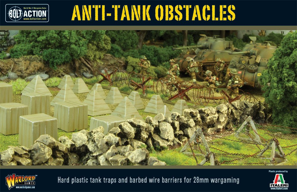 NEW BOLT ACTION BARBED WIRE WARLORD GAMES TERRAIN TANK BARRIERS TRAPS OBSTACLE