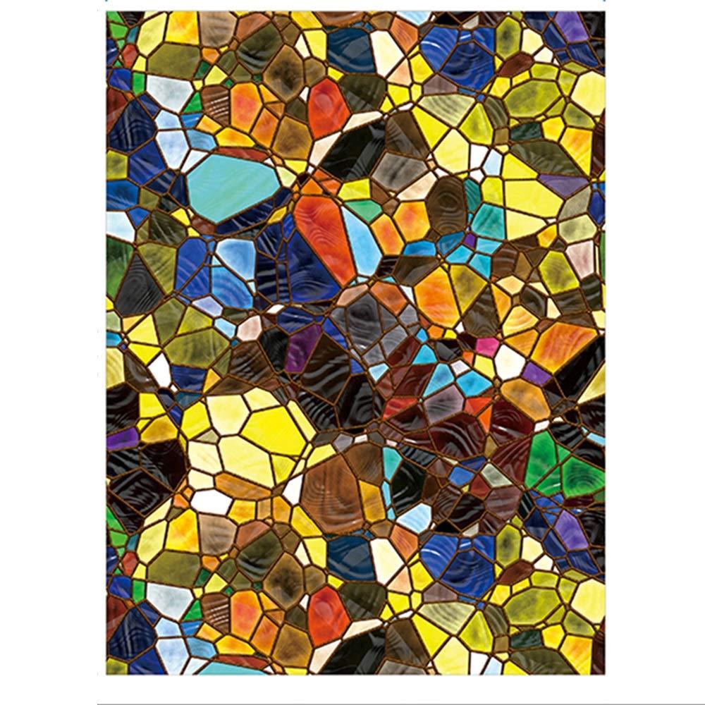 Color : A-100x160cm QINQIDWF Films pour Fen/être Vitrail Film de Protection de La Vie Priv/ée Film Autocollant de Fen/être Givr/ée Sans Colle Auto-statique Adh/érent Anti UV Film Non-adh/ésif