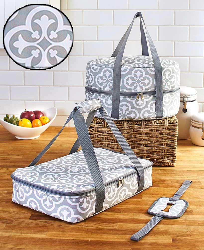 Serving Dishes Travel Carrier Set - Casserole and Slow Cooker Cozies - 3 Pieces