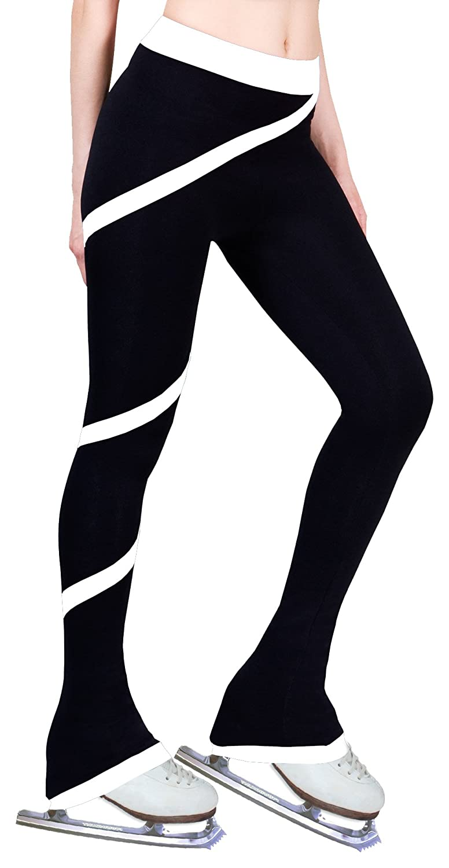 White, Adult Extra Small ny2 Sportswear Figure Skating Spiral Polartec Polar Fleece Pants