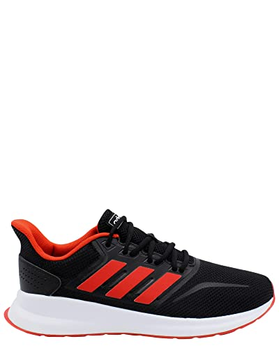 reputable site a2c01 30d75 adidas Men s RunFalcon Running Shoe Active Red Black, ...