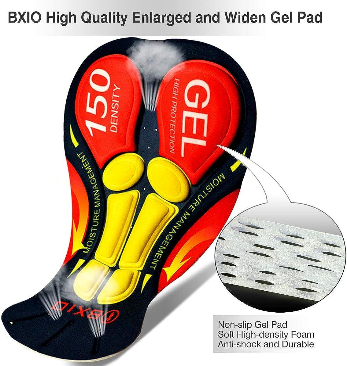 BXIO Herren Radsport Set mit kurzen /Ärmeln und 5D Gel gepolsterten Shorts Atmungsaktiv Schnelltrocknend Radsportbekleidung 206