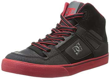 dc shoes high tops red and black. dc shoes boys spartan high b shoe high-top 303499a black/dark red 10 dc tops and black i