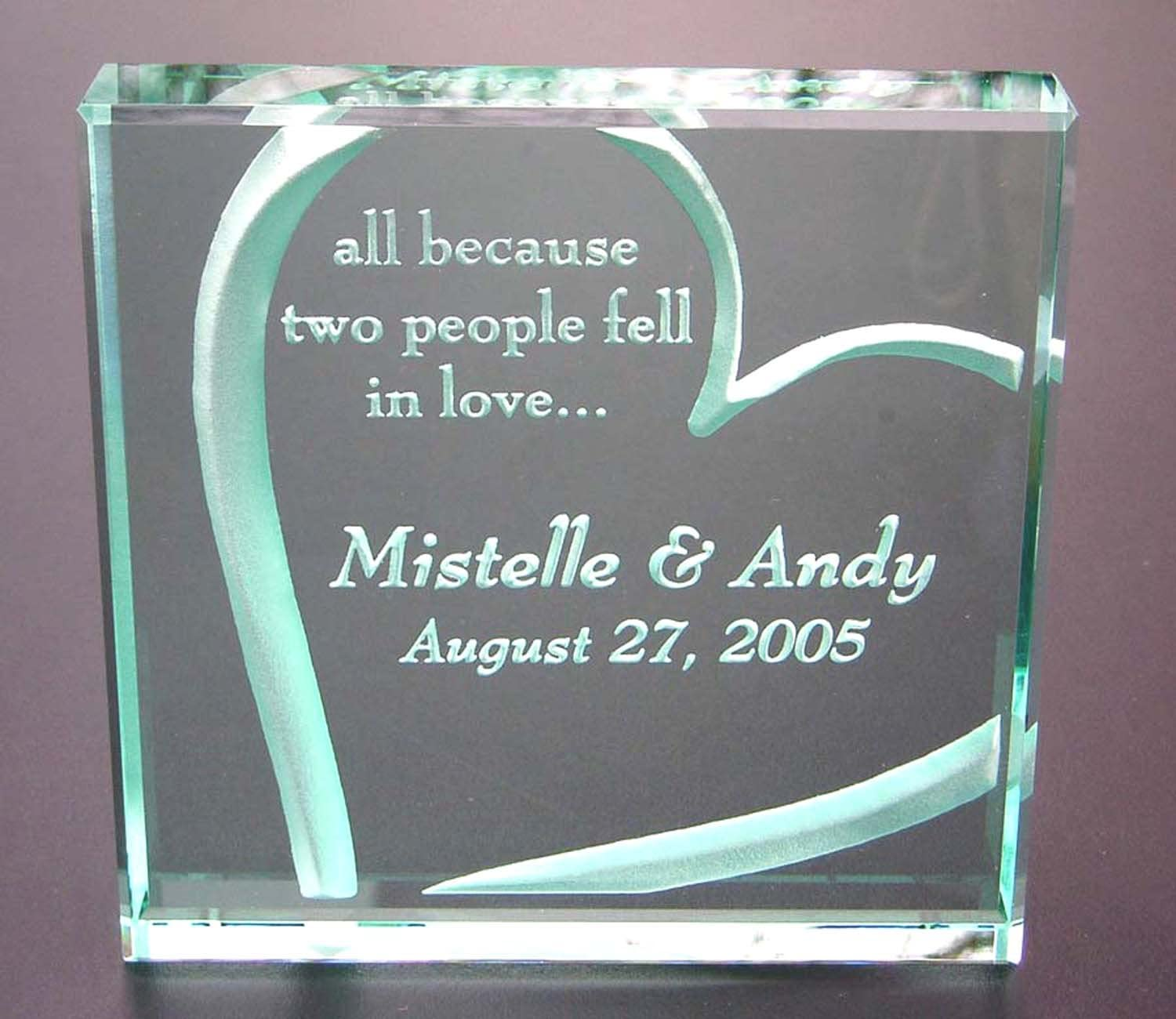 Engagement CELEBRATIONS Glass /& Crystal Heart Plaque