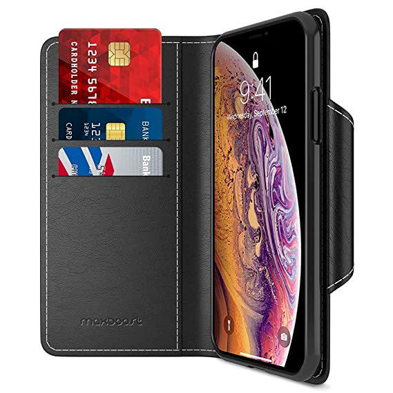 8939c5626b Maxboost Wallet Case Designed for Apple iPhone Xs (2018)/ iPhone X (2017