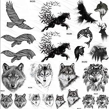Amazon.com  Eagle Bird Wolf Temporary Tattoos Sticker