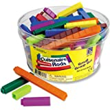 Learning Resources Interlocking Plastic Cuisenaire Rods Small Group Set (Set of 155)