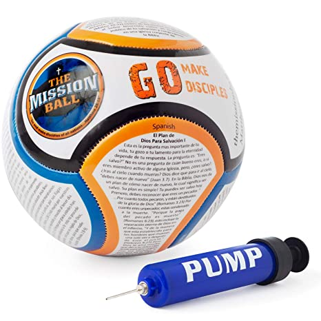 The Mission Ball (Spanish Soccer Ball - Biblical Gospel Sharing Tool Using The Worlds Most