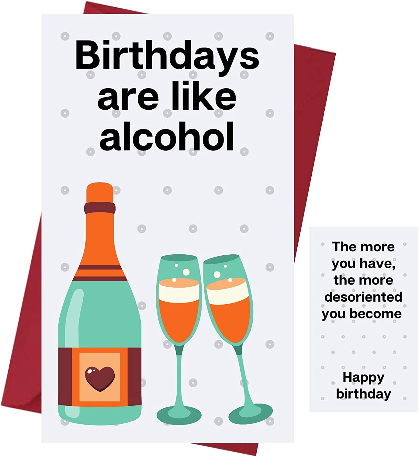 Amazon Com Funny Happy Birthday Card For Men Women Birthday Card For Alcohol Drinkers Prank Birthday Card Funny Birthday Card For Friends Family Coworkers Etc Alcohol Birthday