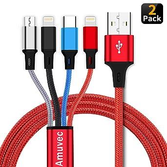Amazon.com: Cable de carga 4 en 1.: Amuvec