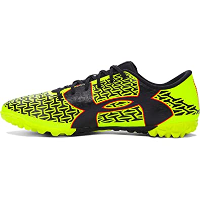 the best attitude bf1f7 4dc27 Under Armour Men s UA CF Force 2.0 TR High-Vis Yellow Rocket Red