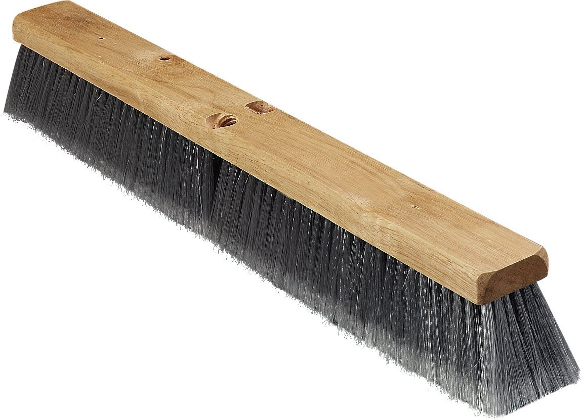 Carlisle 3621952423 Hardwood Block Flagged Floor Sweep, Polypropylene Bristles, 24'' Block Size, 3'' Bristle Trim, Gray