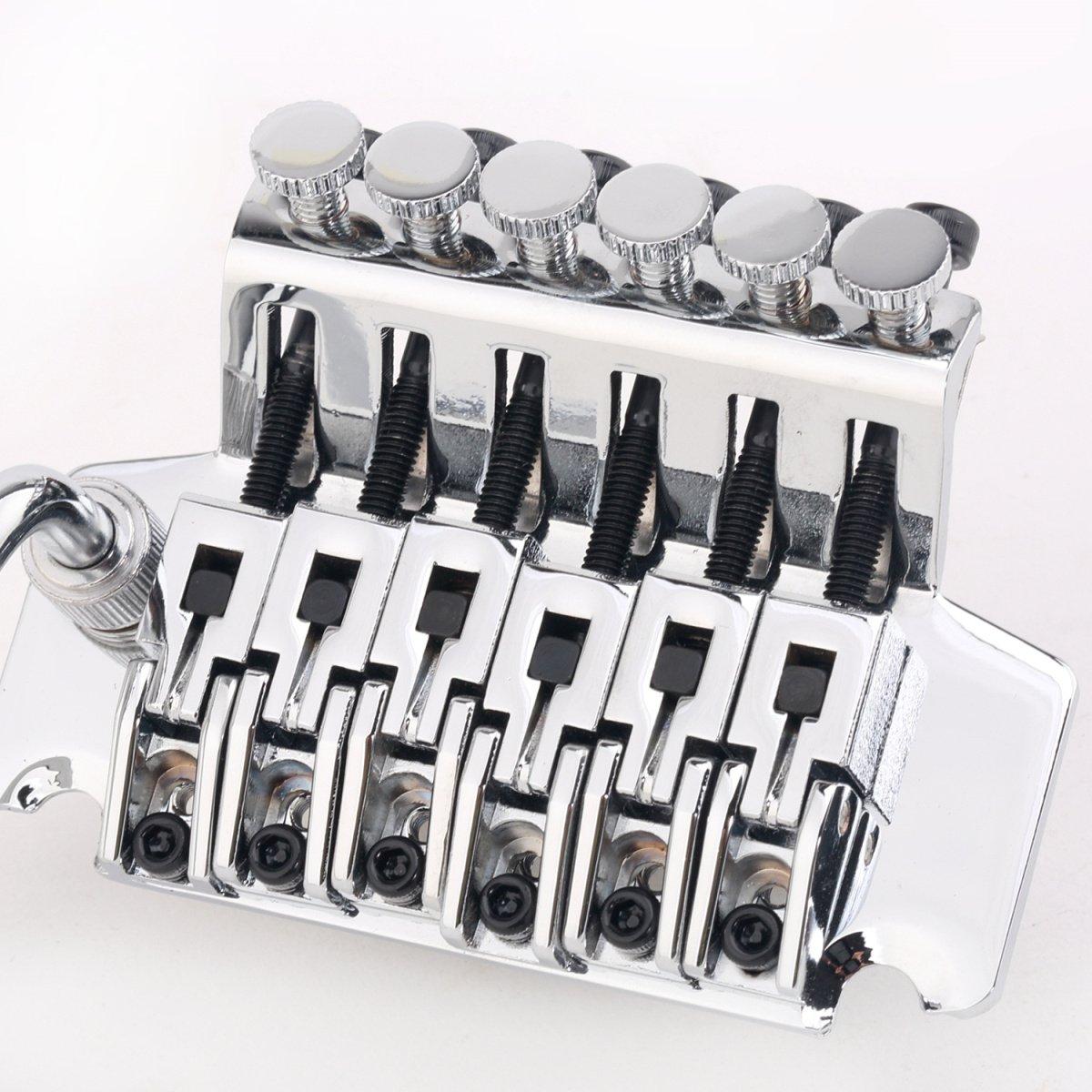 Musiclily Pro 54mm Locking Ponte Tremolo per Chitarra Elettrica,Cromo