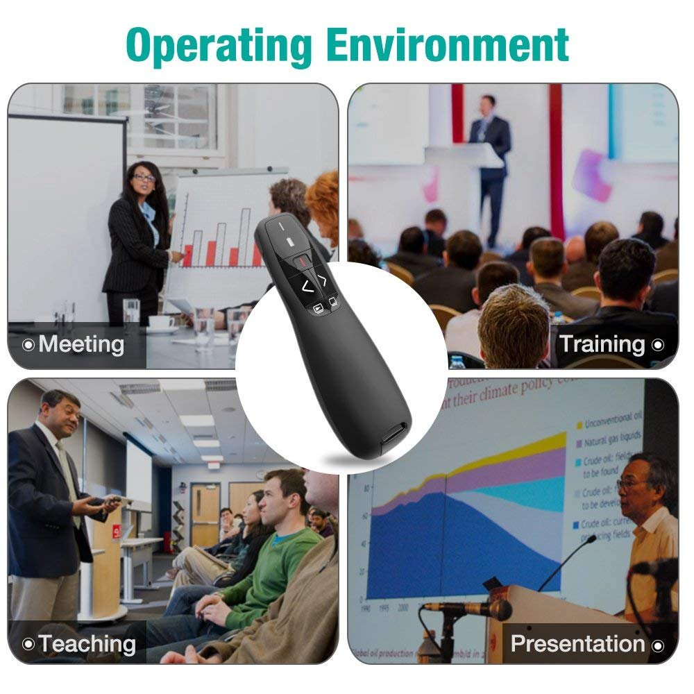 Wireless Presenter with Laser Pointer, 2.4GHZ Support Topic Speech and Super URL, Powerpoint Presentation Remotes R400-Bollaer, USB Control for Teaching and Meeting by BOLLAER (Image #6)