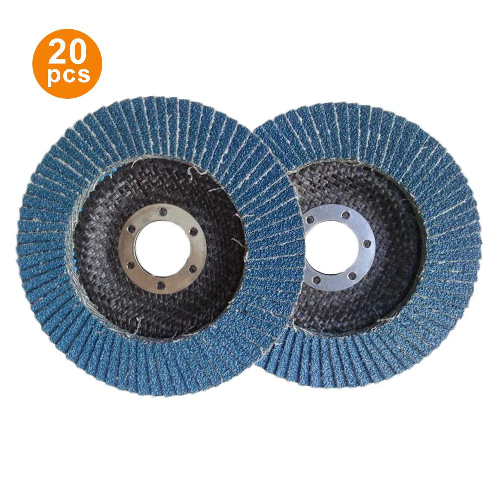 Lykke. Flap Sanding Disc T29 4.5 Inches Premium Includes 40//60//80//120 Grits Grinding Wheel Hundred Impeller Zirconia Abrasive for Grinding Smoothing,