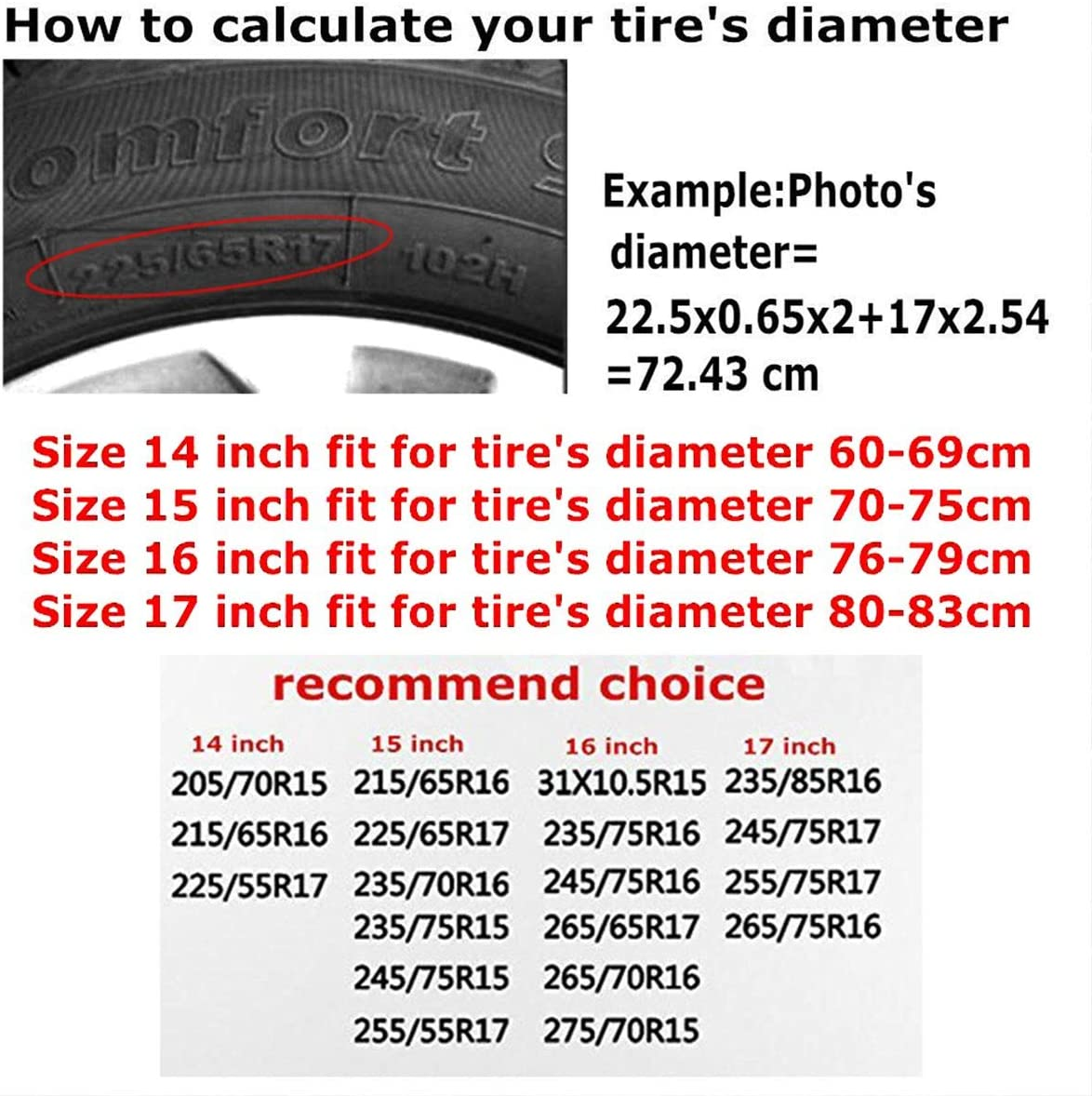 Camper Travel Trailer Truck and Many Vehicle 14 15 16 17inch SUV Rv N,A Spare Tire Cover Waterproof Dust-Proof Universal Wheel Tire Cover Fit for Jeep