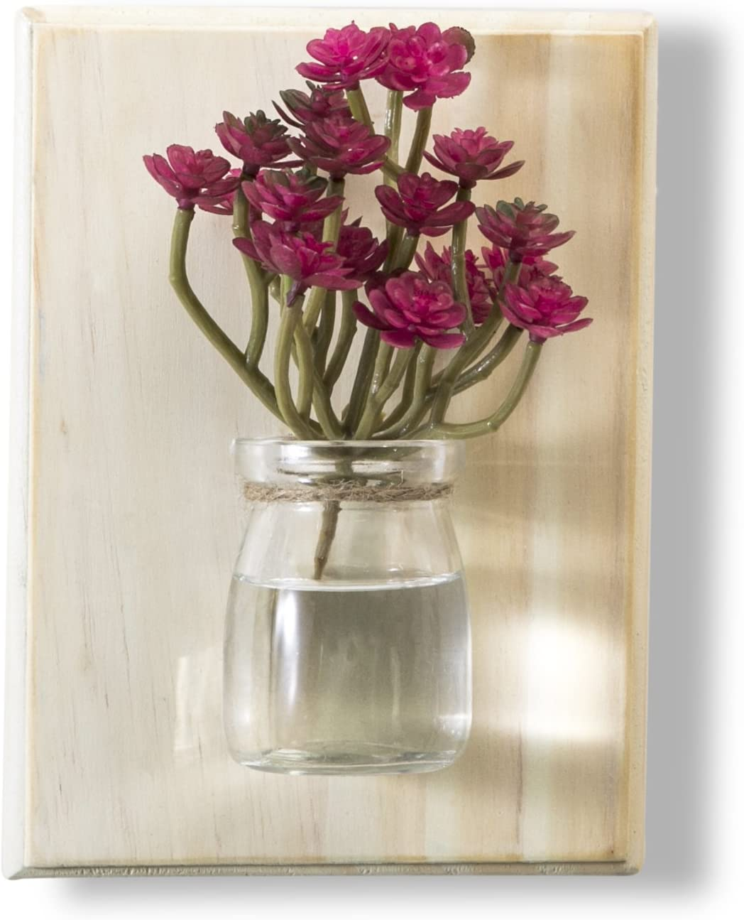 WOOD MEETS COLOR Hanging Vase, Creative Handcrafted Plant Pot Wall Potting, Flower Succulent Container, Home Decoration (Light White)
