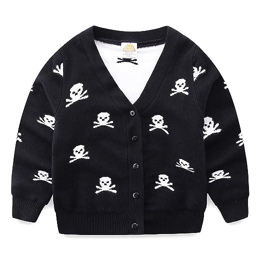 Amazoncom Mud Kingdom Boys Cardigan Sweater Skull Clothing