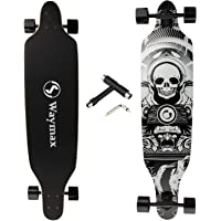 Longboard Skateboard Complete - 41 Inch Longboard for Hybrid, Freestyle, Carving, Cruising and Downhill with All-in-one…