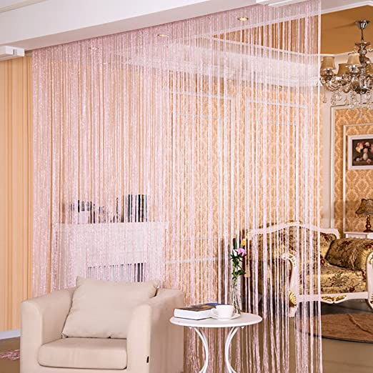 String Curtain Panel, Glitter Door Wall Window Doorways Panel Fly ...