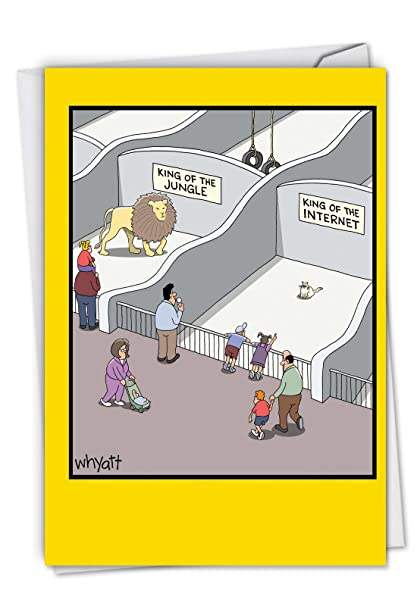 King Of The Internet Hysterical Birthday Card With Envelope C6397BDG