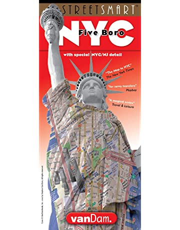 StreetSmart NYC Five Boro Map by VanDam-Laminated pocket city street map w/ attractions