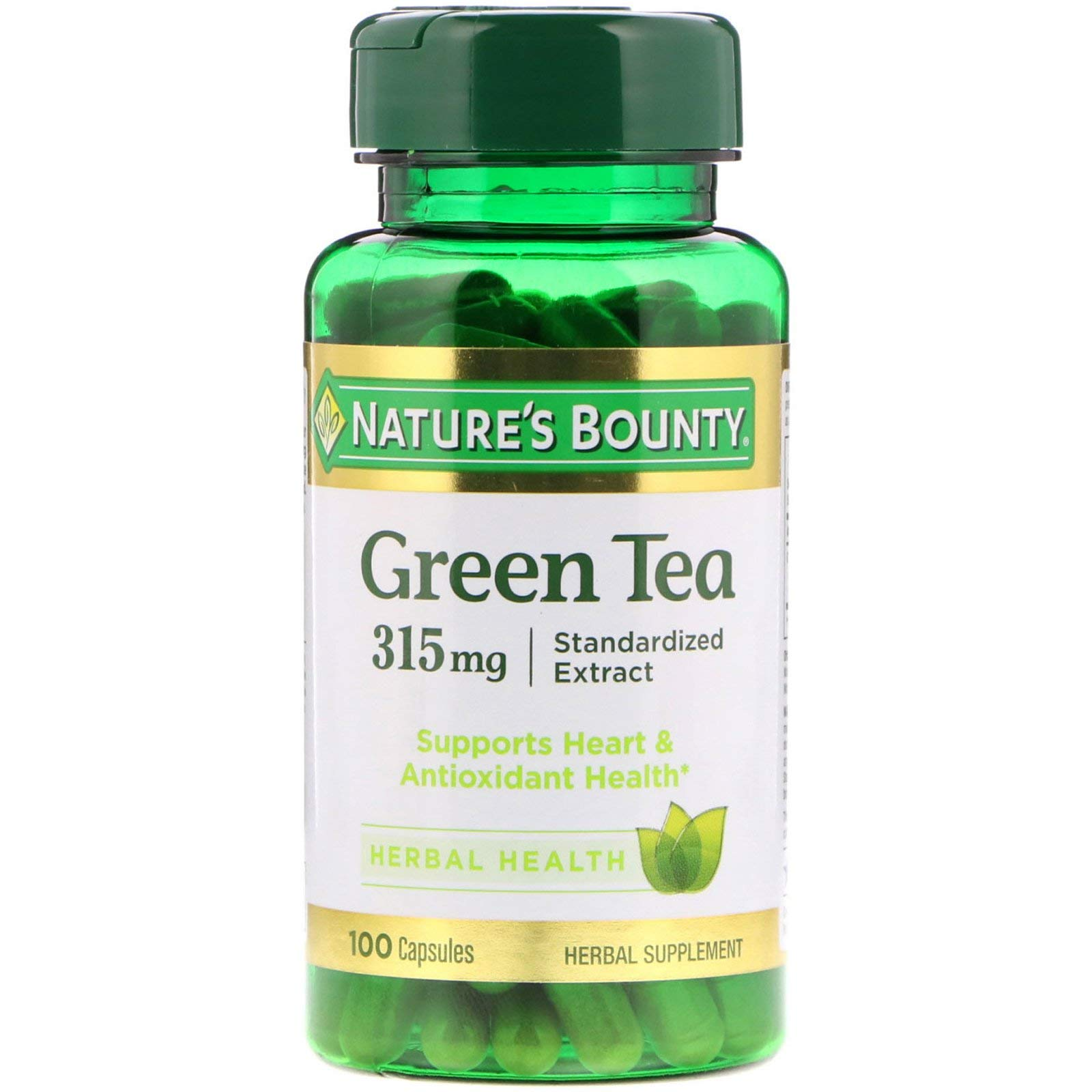 Nature's Bounty Green Tea Extract 315 mg Capsules 100 ea (Pack of 3) by Nature's Bounty