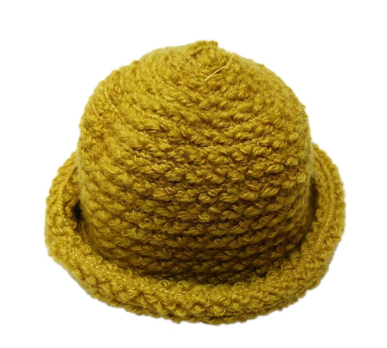 XueXian(TM) Niñas de Pescador de Cúpula Invierno Lana Gorra para Mantente Caliente(amarillo)