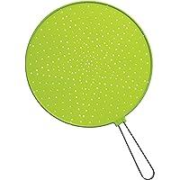 Grande paraschizzi in silicone/pellicola in acciaio INOX con manico: 32cm Lime Green