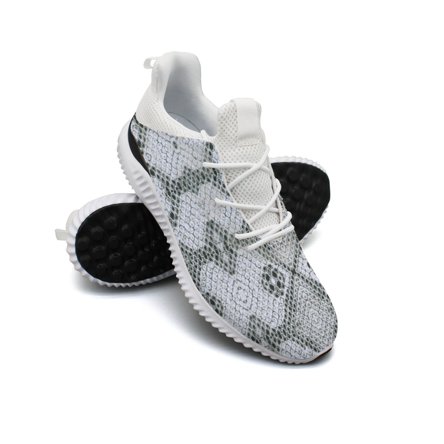 White Snake Skin Leisure Design Running Shoes Women's Net Jogger Colorful