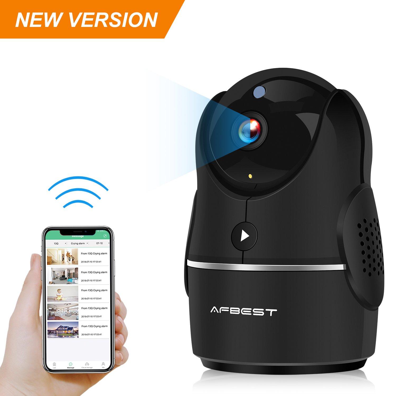 Cá mara IP, AFBEST 1080P Cá maras de seguridad inalá mbricas con control remoto por infrarrojos con Pan/Tilt / Zoom Detector de movimiento de visió n nocturna de audio bidireccional