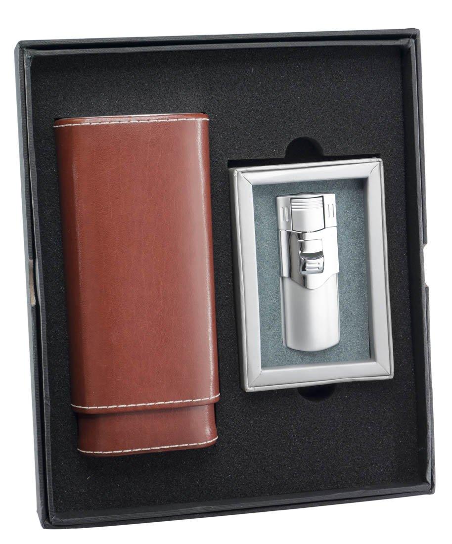 Visol ''Lone Star'' and ''Phantom'' Cigar Case and Lighter Gift Set