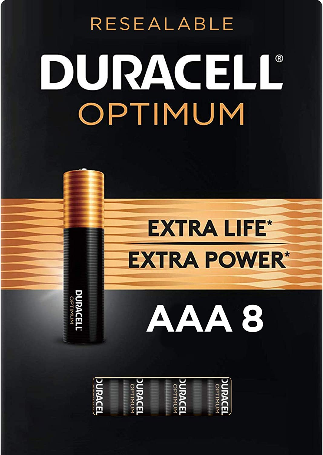 Duracell Optimum AAA Batteries | 8 Count | Long Lasting Triple A Battery | Alkaline AAA Battery