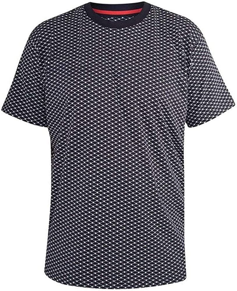 Duke D555 Homme Big Tall grand format Dawson col boutonné Texturé Shirt