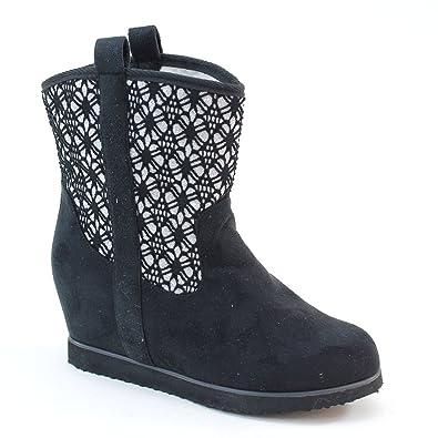 New Brieten Women's Comfortable Wedge Ankle Snow Boots