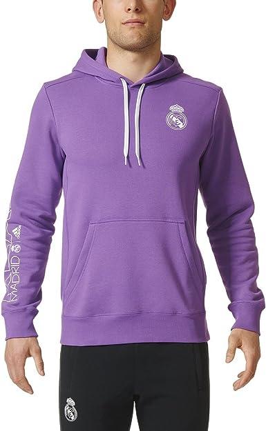 Inducir Intrusión Matrona  Amazon.com : Adidas Mens Real Madrid Hoodie Purple/White L : Clothing