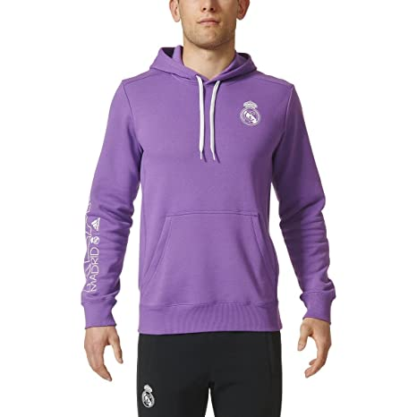 adidas para hombre Real Madrid Core sudadera con capucha - AP1847, Ray Purple/Crystal