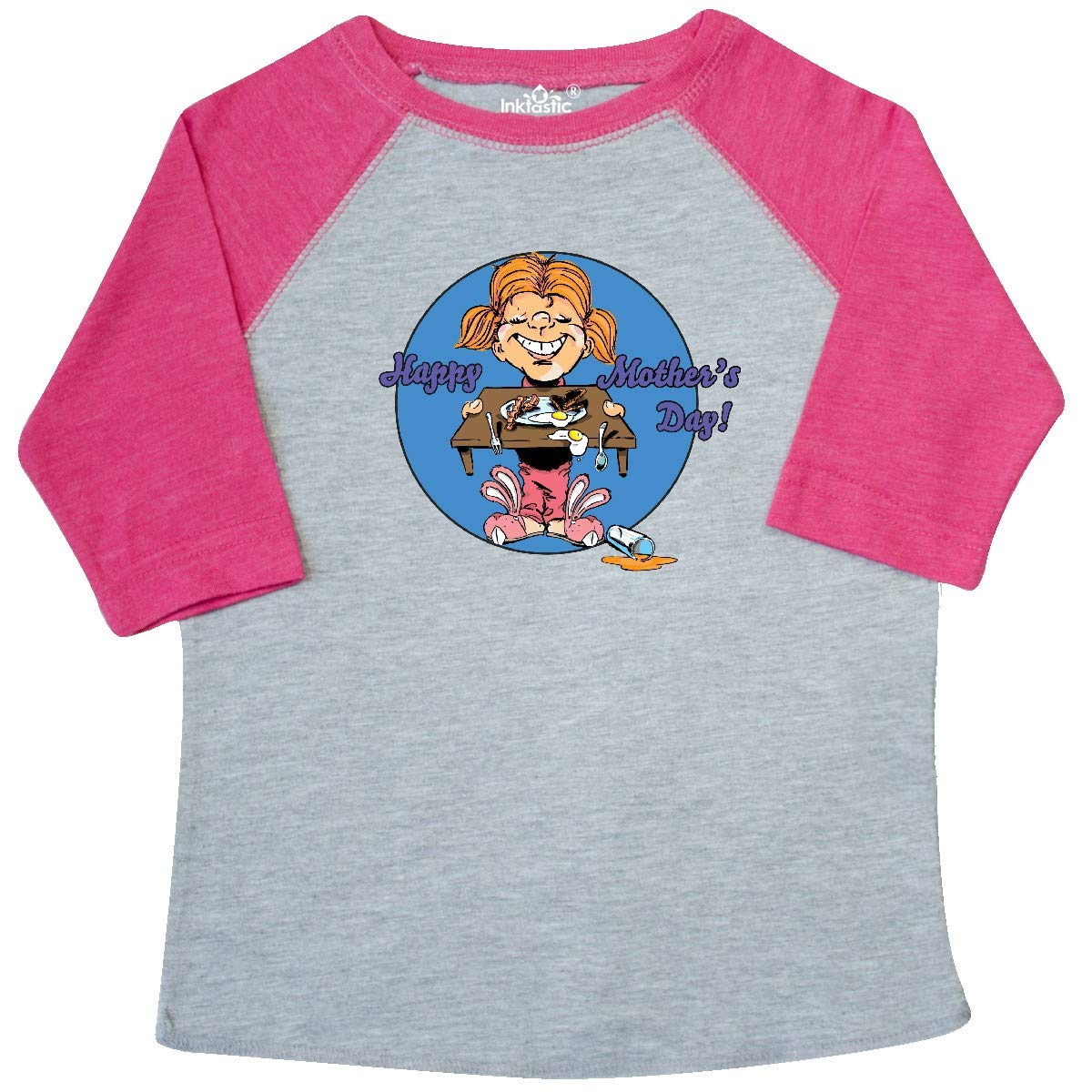 inktastic Happy Mothers Day Redhead Daughter with Breakfast Toddler T-Shirt