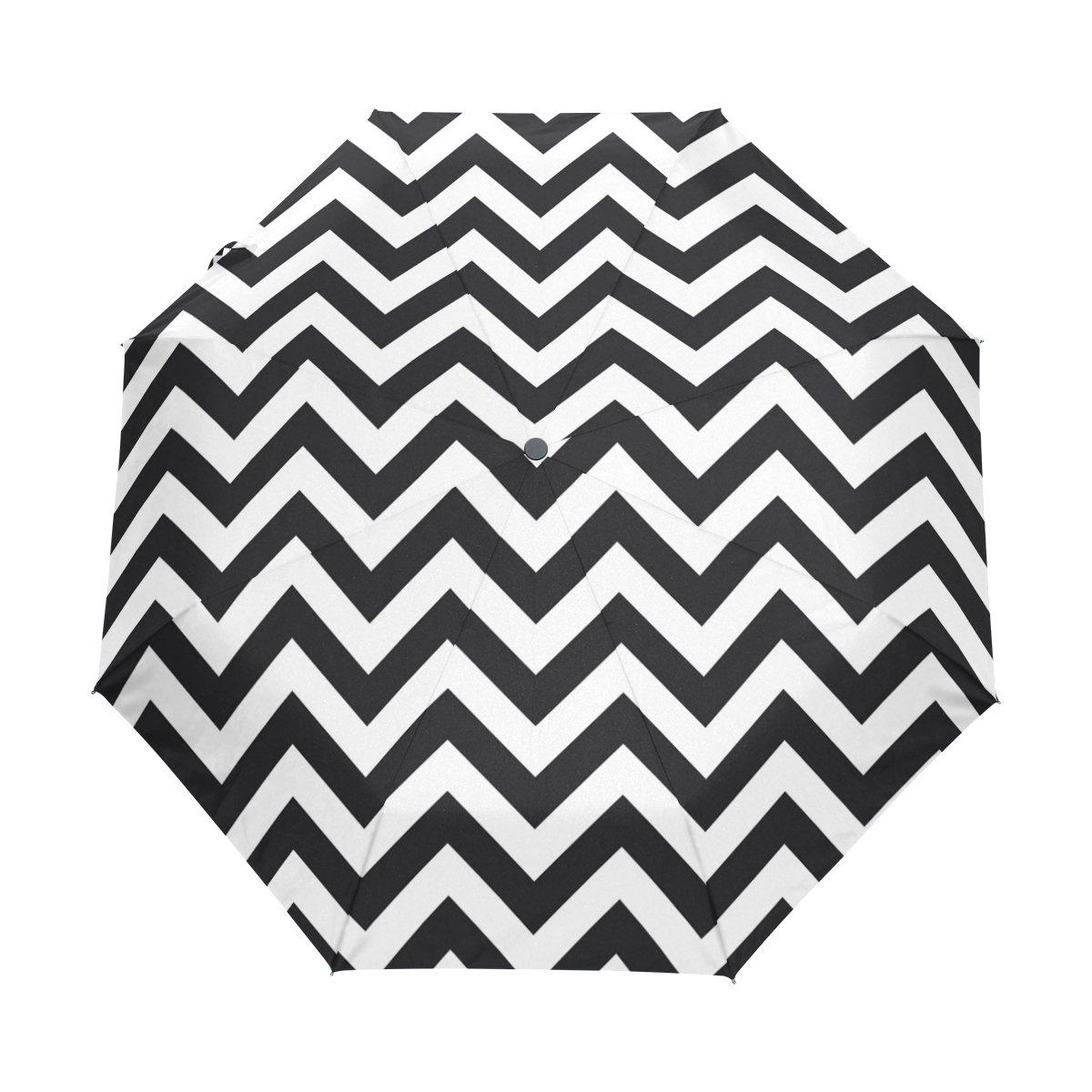 87e01d7bbc95 DEYYA Black And White Stripe Seamless Pattern Custom Foldable Sun ...